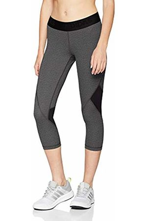 adidas Women's Ask SPR Tig 34H Sports Tights, Grigio Dark Heather/