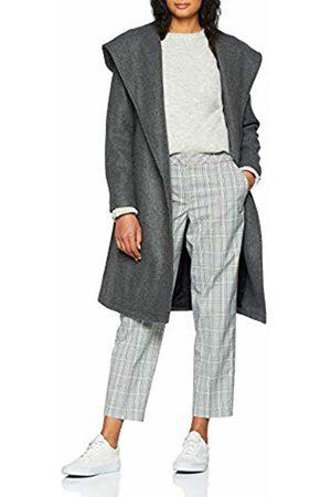 Only Women's Onlriley Wool Hooded Wrap Coat Cc OTW Dark Melange