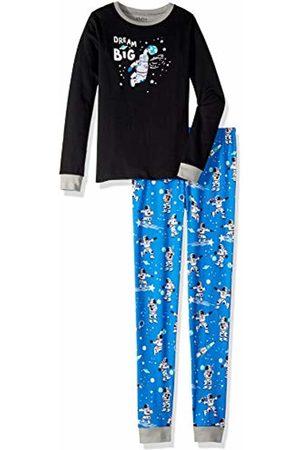 Hatley Boy's Organic Cotton Long Sleeve Appliqué Pyjama Set, (Glow in The Dark Dream Big)