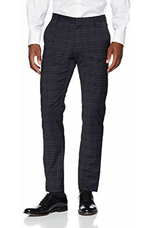 Selected Homme Men's Slhslim-mylocreed Navy Check TRS B Noos Suit Trousers, Blazer