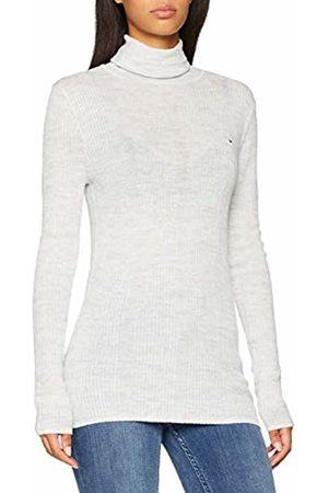 Tommy Hilfiger Women's Tjw Essential Turtleneck Sweater (Pale Heather 089)