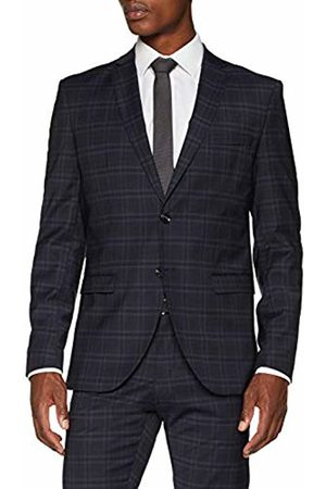 Selected Homme Men's Slhslim-mylocreed Navy Check BLZ B Noos, Blazer