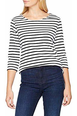 Armor.lux Women's Marinière Manches 3/4 T - Shirt, Multicolore Bi9 Blanc/Rich Navy