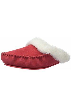 Snugrugs Women's Alisa Open Back Slippers, Crimson
