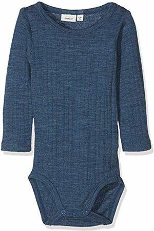 Name it Baby Boys' Nbmwang Wool Needle Ls Body Noos Footies Ensign
