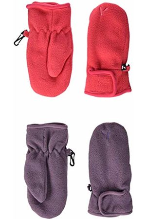 Name it Girl's Nmfmar Fleece 2p Mitten Fo Gloves, Pack As 2pack W. Teaberry and Arctic Dusk