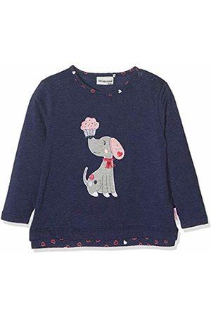 Salt & Pepper Salt and Pepper Baby Girls' B Longsleeve Mon Amie Rüschen T - Shirt (Crown Melange 486)