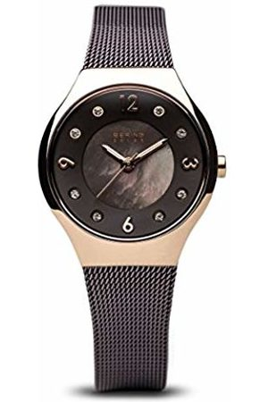 Bering Womens Analogue Solar Powered Watch with Stainless Steel Strap 14427-265