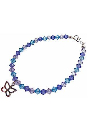 Chic A Boo Children's Sterling Butterflyand Swarovski Crystal 6 Inch Bracelet