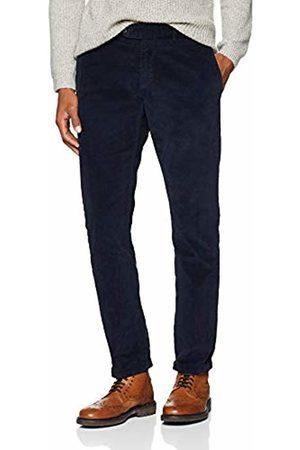 Hackett Hackett Men's Corduroy Chino Trousers, (Navy)