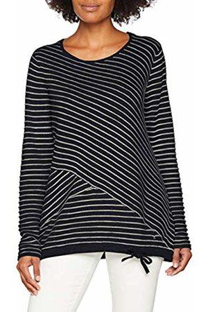 GINA LAURA Women's Pullover, Diagonalstreifen, Saumband Jumper