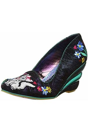 Irregular Choice Women's Feather & Catglow Closed Toe Heels ( A)