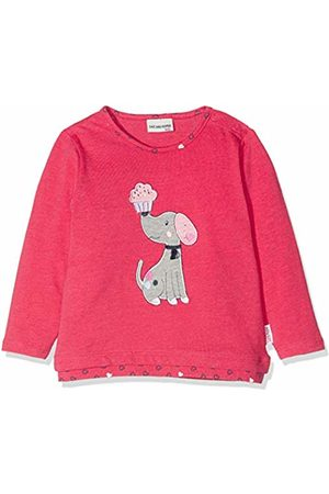 Salt & Pepper Salt and Pepper Baby Girls' B Longsleeve Mon Amie Rüschen T - Shirt (Paradise Melange 842)
