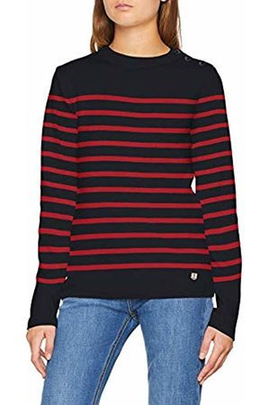 Armor.lux Women's Pull Marin Héritage Jumper, Multicolore Ii9 Rich Navy/Braise