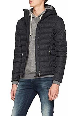 Superdry Men's Hooded Double Zip Tweed Fuji Sports Jacket