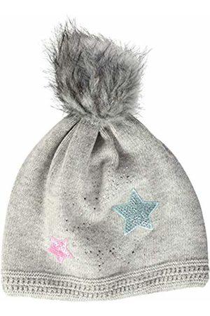 maximo Girls' 83578-207600, Mütze, Bunte Sterne, Kunstfellpompon Hat
