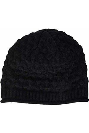 maximo Girls' 83578-206100, Beanie, Rollrand, Blasenmuster Hat (Schwarz 46)