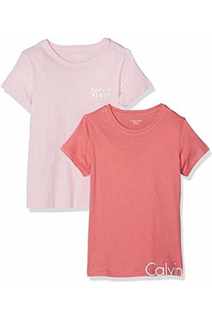 Calvin Klein Girl's 2pk Ss Tees T-Shirt Desert Rose/1 Unique 615