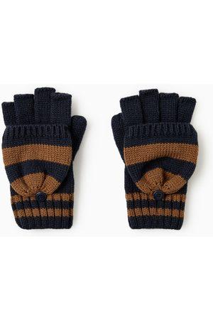 Zara Gloves - STRIPED GLOVES WITH MITTEN FLAPS