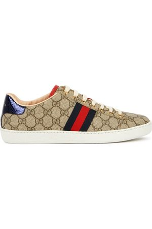 Gucci New Ace GG Supreme Taupe Sneakers