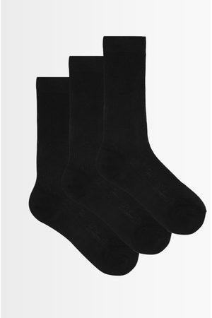 Raey Women Socks - Pack Of Three Ribbed Silk Socks - Womens