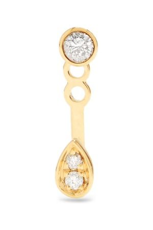 Anissa Kermiche Diamond & 14kt Single Earring - Womens