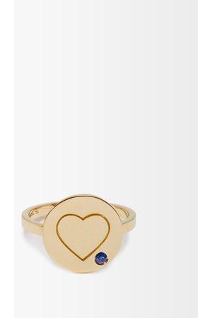 Aurélie Bidermann Women Rings - Heart Sapphire & 18kt Ring - Womens