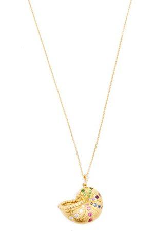Aurélie Bidermann Diamond, Sapphire & 18kt Gold Necklace - Womens - Multi