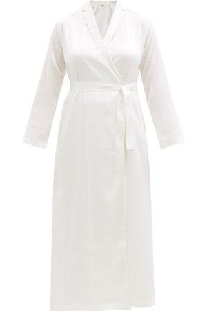 La Perla Women Bathrobes - Silk-satin Robe - Womens - Ivory