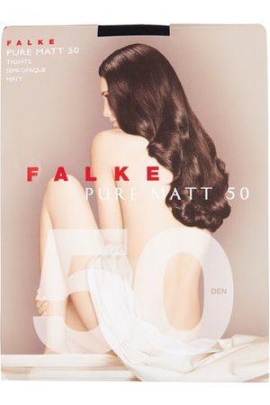 Falke Women Tights - Pure Matte 50 Denier Tights - Womens - Navy
