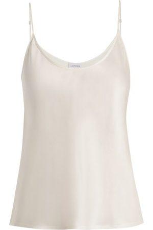La Perla - Scoop Neck Silk Satin Cami Top - Womens