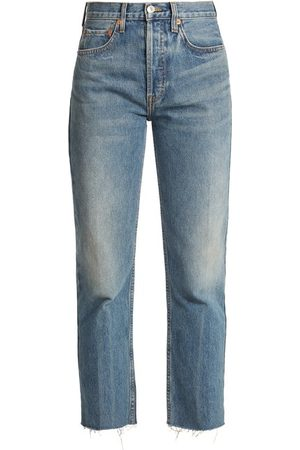RE/DONE Rigid Stove Pipe High Rise Jeans - Womens