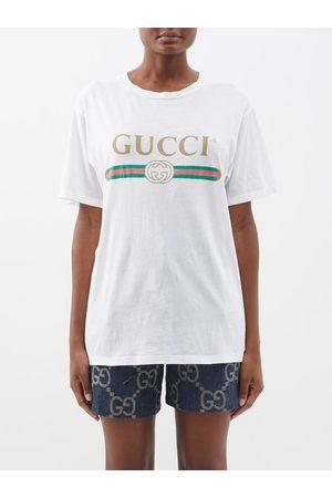 Gucci Vintage-logo Cotton-jersey T-shirt - Womens