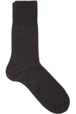Falke Airport Wool-blend Socks - Mens - Dark