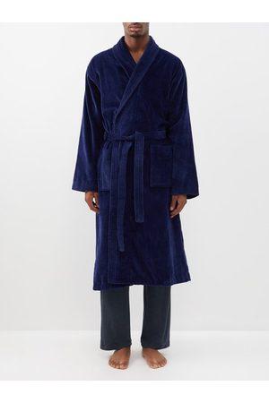 DEREK ROSE Triton cotton-velour bathrobe