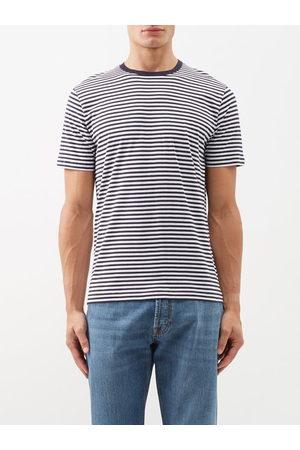 Sunspel Men T-shirts - Striped Cotton-jersey T-shirt - Mens - Stripe