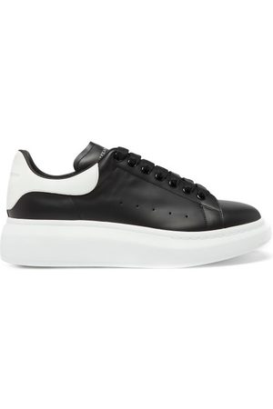 Alexander McQueen Raised-sole Leather Trainers - Mens