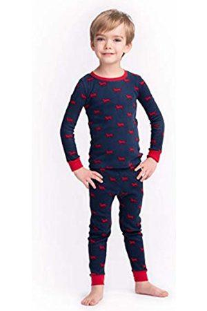 Hatley Boy's Organic Cotton Long Sleeve Printed Pyjama Set, ( Labs)