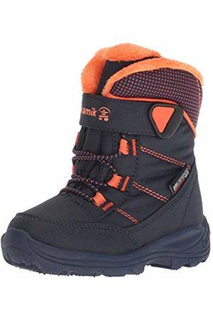 Kamik Unisex Kids' Stance Snow Boots, (Navy Flame NFL)