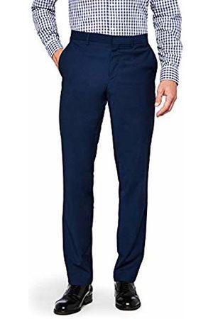 Hem & Seam Men's Slim Fit Tonic Formal Trousers