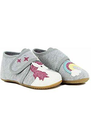 Living Kitzbühel Baby Girls' Babyklett. Einhorn&Regenbogen Slippers Size: 7 UK