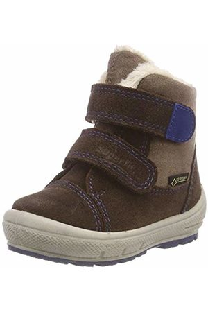 Superfit Boys' Groovy Snow Boots, (Braun/Blau 30)