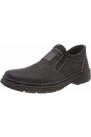 Rieker Men's 5054 Loafers, Smoke/Schwarz 00