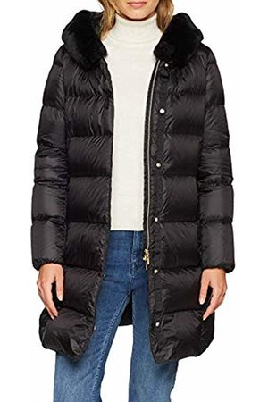 Geox W FAVIOLA Long down jacket with hood