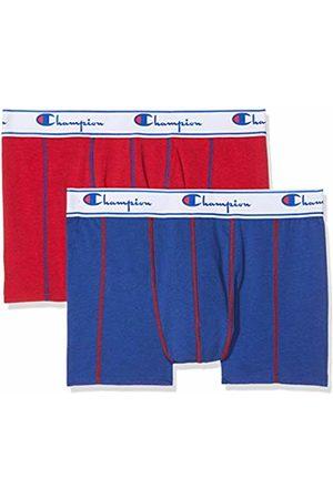 Champion Coton, Boxer de Bain Homme, Multicolore (Rouge/Bleu Royal 8me)