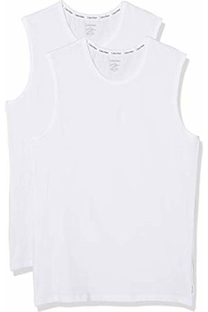 Calvin Klein Men's Crew Neck Tank 2pk Sports Top 100