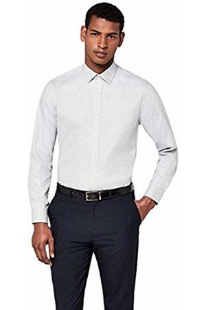 Hem & Seam Men's Cotton Twill Regular Fit Formal Shirt