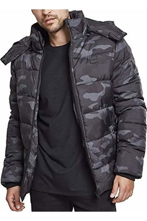 Urban classics Men Winter Jackets - Men's Hooded Camo Puffer Jacket