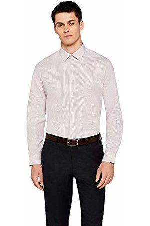 Hem & Seam Men's Regular Fit Stripe Formal Shirt With Classic Collar