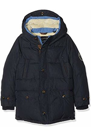 Scotch&Soda Shrunk Boy's Quilted Jacket with Hood & Teddy Lining in Longer Length